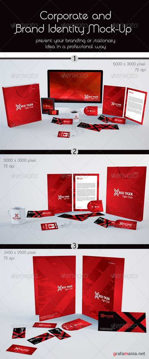GraphicRiver Corporate and Stationery Brand Mock-Up