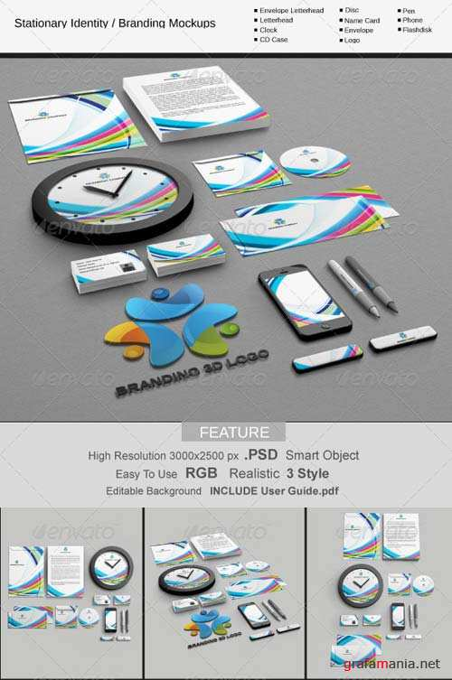 GraphicRiver Stationary Identity / Branding MockUps