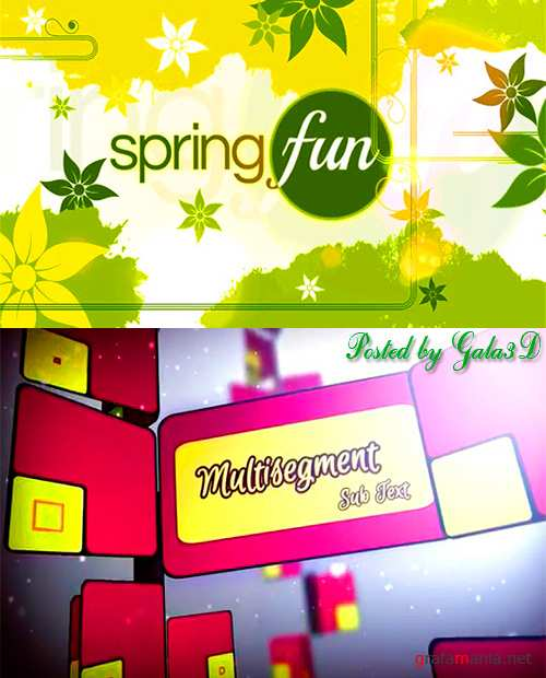 Spring Swatch и Snap Post — After Effects Project