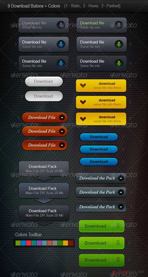 GraphicRiver 9 Web Buttons (Download Buttons)