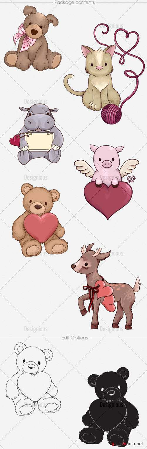 Vector Valentines Set 2