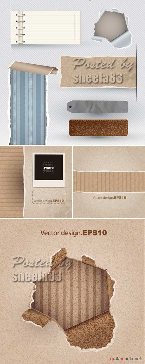 Ripped Paper Backgrounds Vector