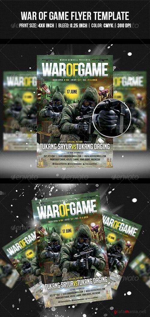GraphicRiver War of Game Flyer Template