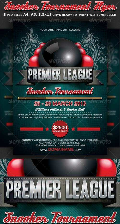 GraphicRiver Snooker Flyer Template
