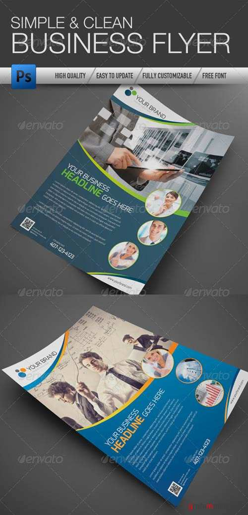 GraphicRiver Professional and Clean Business Flyer 2