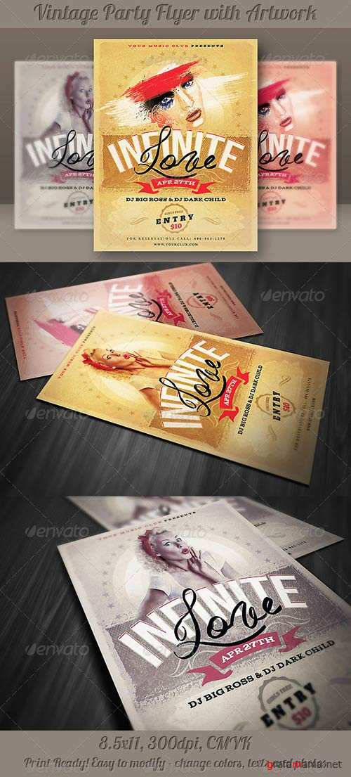 GraphicRiver Unique Vintage Flyer