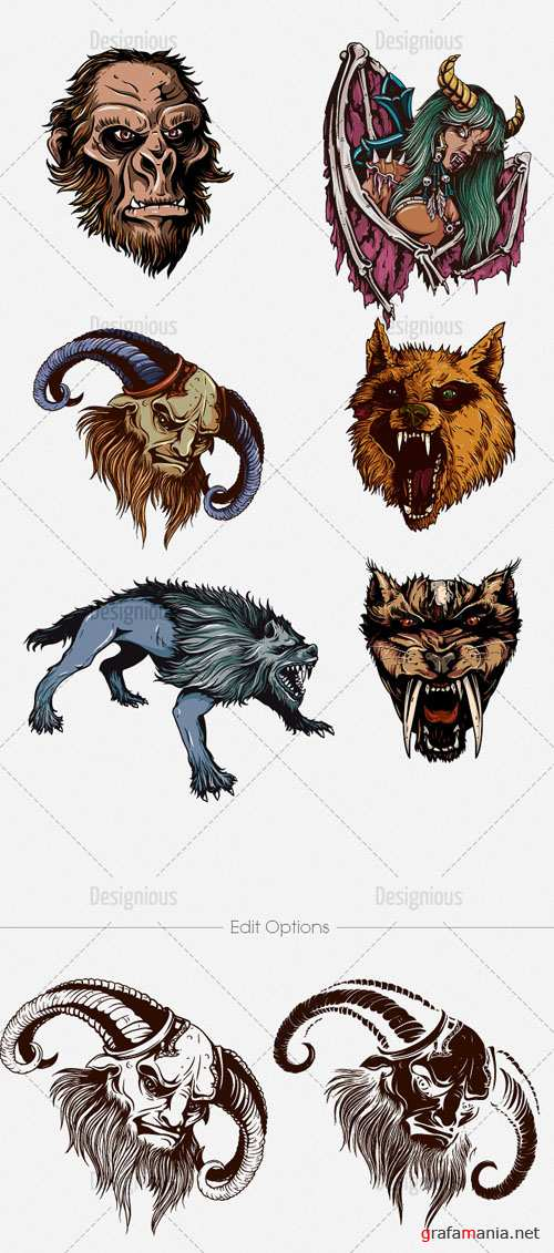 Vector Mythical Creatures Set 1