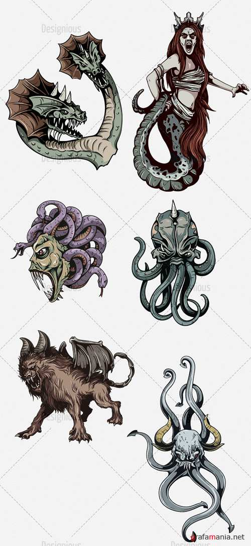 Vector Mythical Creatures Set 2