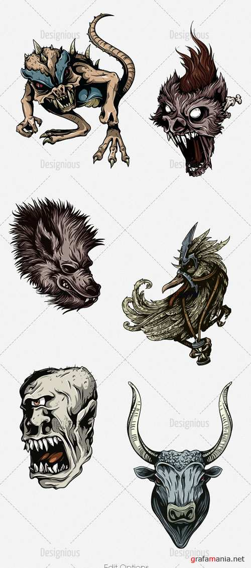 Vector Mythical Creatures Set 3
