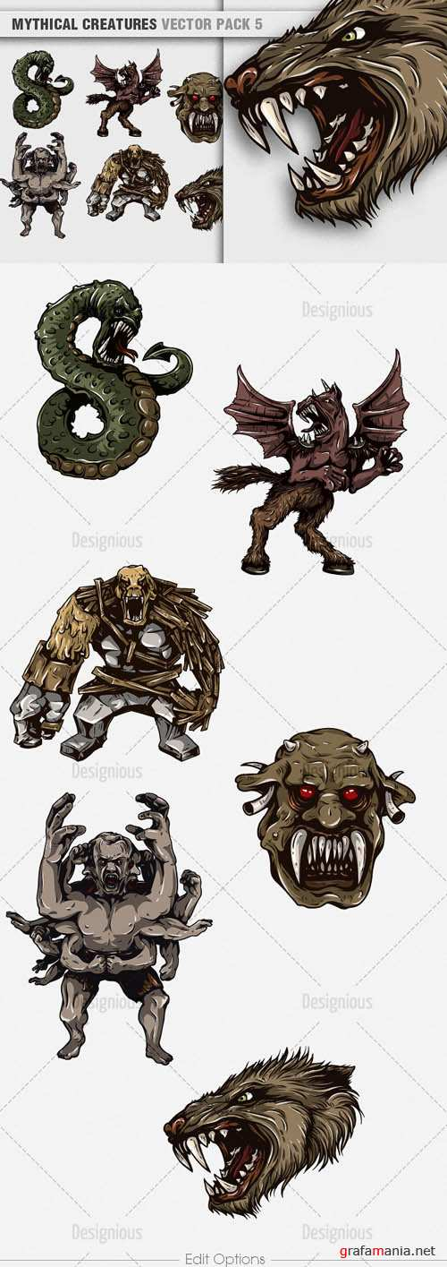 Vector Mythical Creatures Set 5