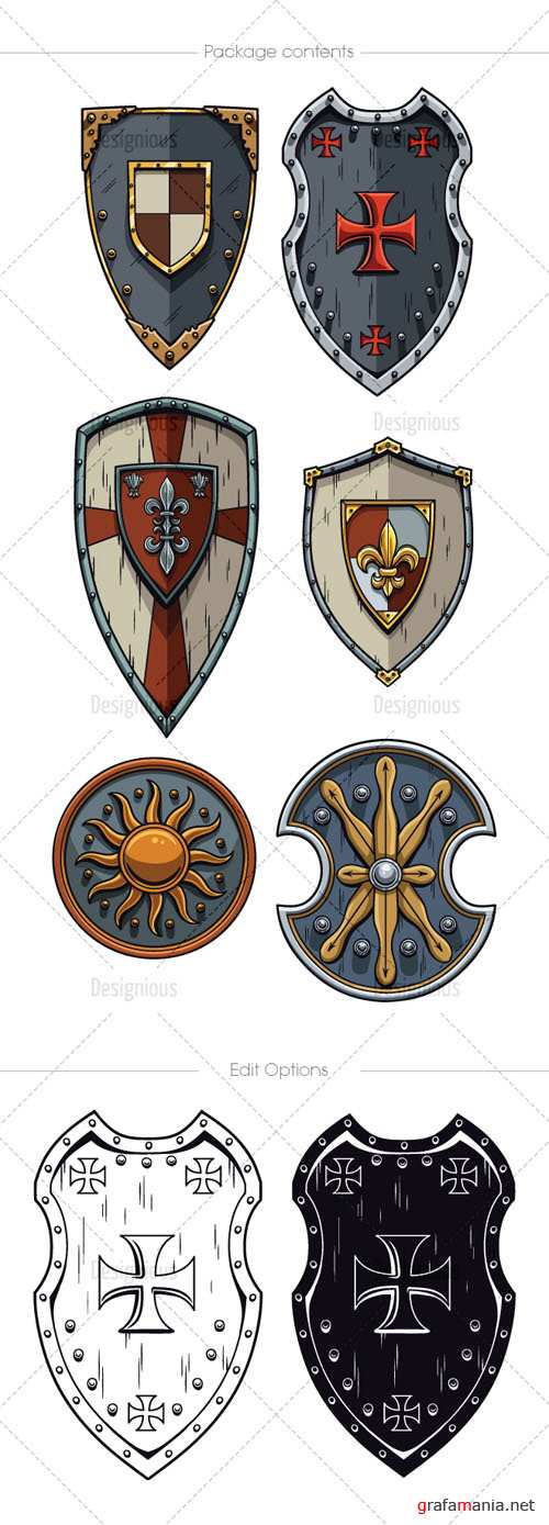 Shields Vector Pack 2