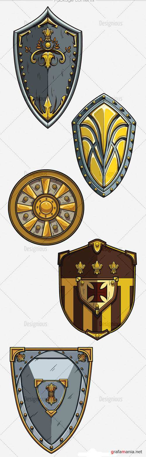 Shields Vector Pack 1