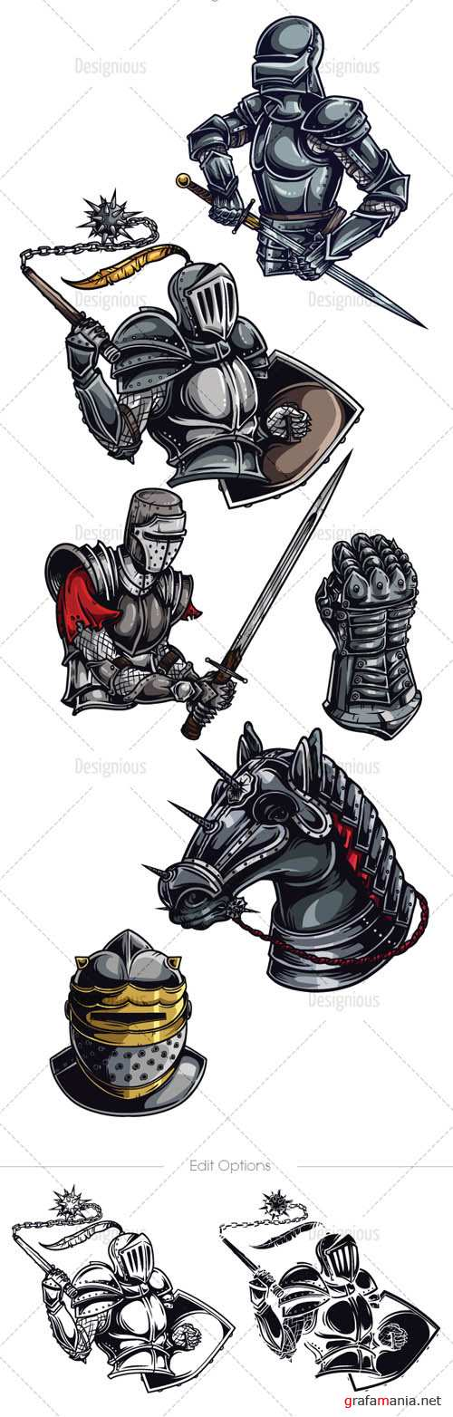 Knights Vector Pack
