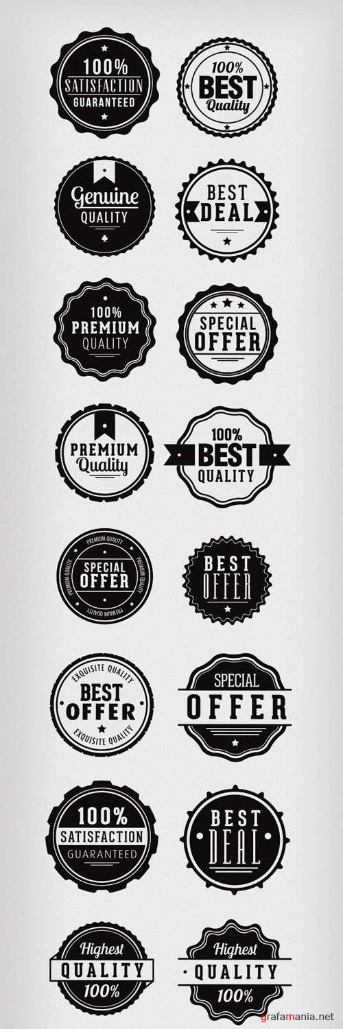 Clean and Modern Vector Badges