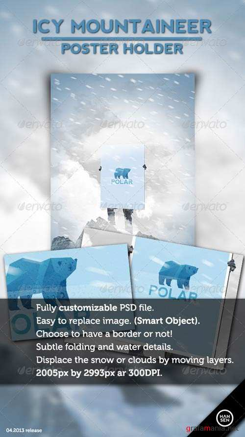 GraphicRiver Icy Mountaineer Poster Holder