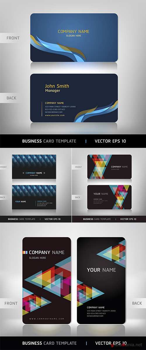 Stock: Business card abstract background