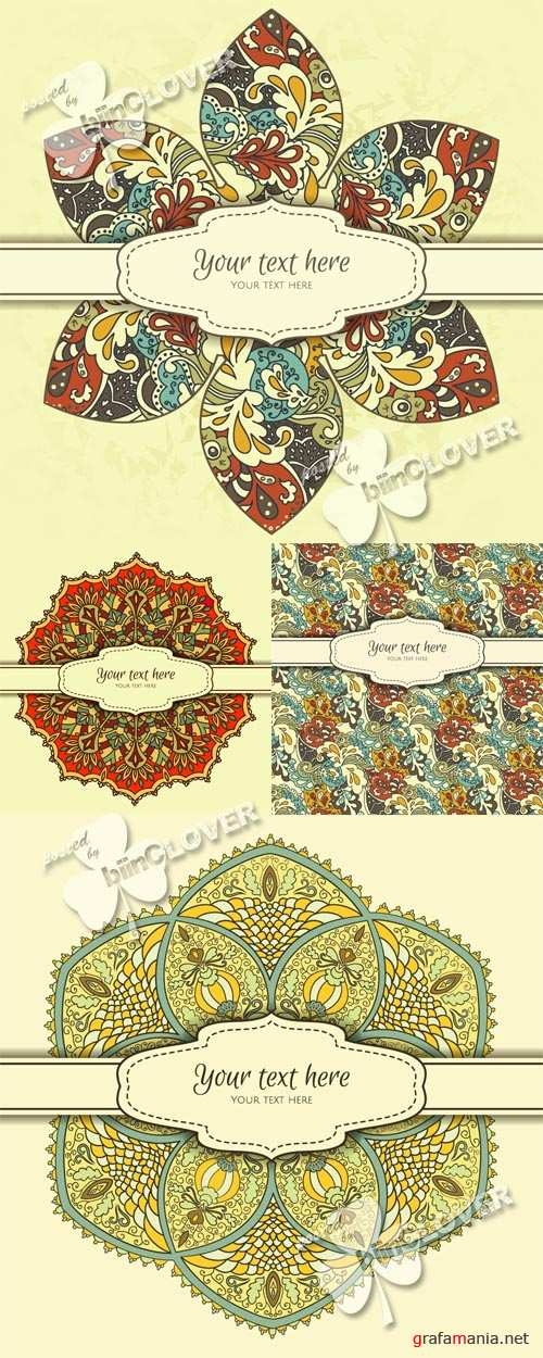 Card with decorative ornament 0411