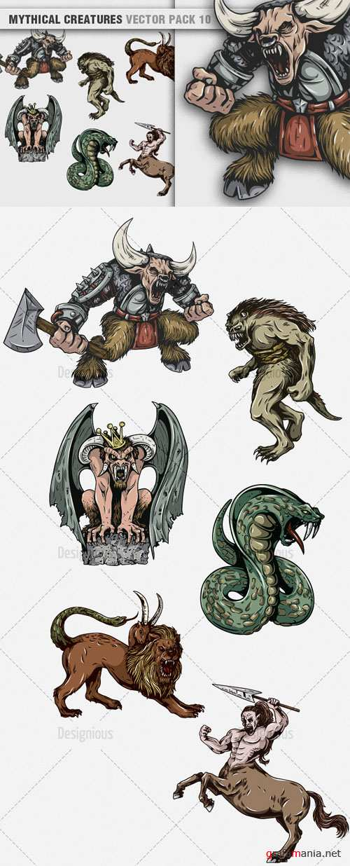 Vector Mythical Creatures Set 10