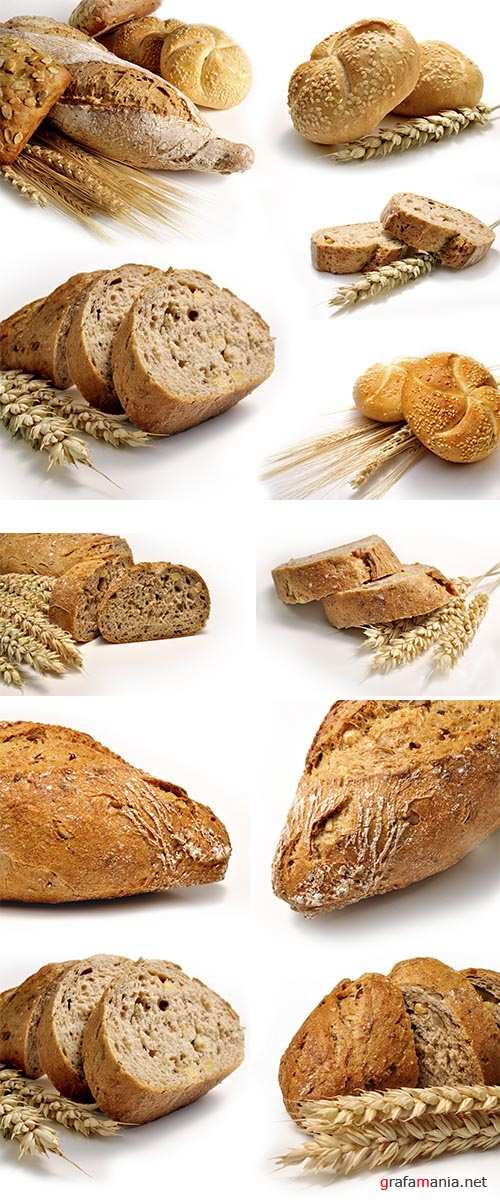 Stock Photo: Bread and wheat