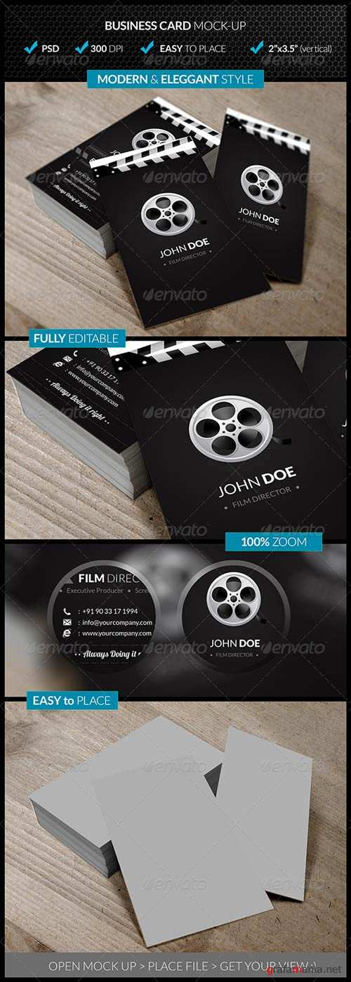 GraphicRiver Verticle Business Card Mock-Up