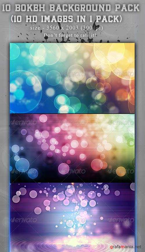 GraphicRiver 10 Bokeh Backgrounds Pack