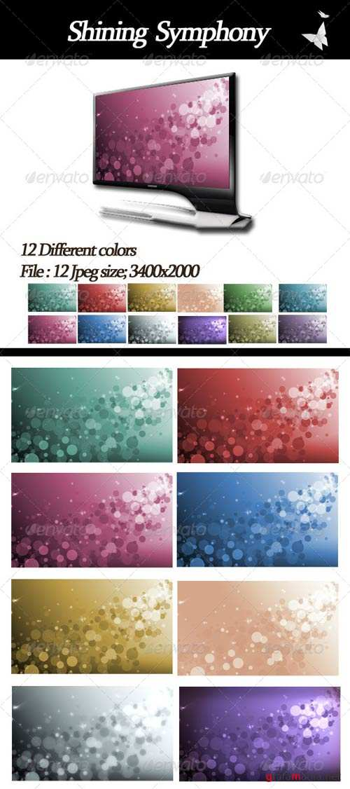 GraphicRiver Shining Symphony Backgrounds