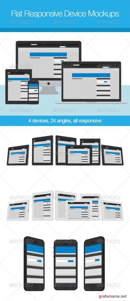 GraphicRiver Flat Responsive Device Mockups
