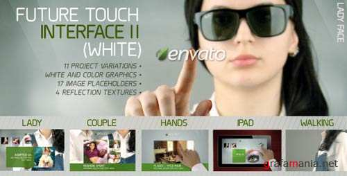 Future Touch Interface II (White) - After Effects Project (Videohive)