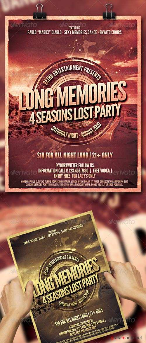 GraphicRiver Long Memories Poster