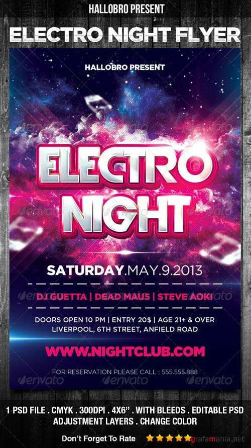 GraphicRiver Electro Night Party Flyer Template