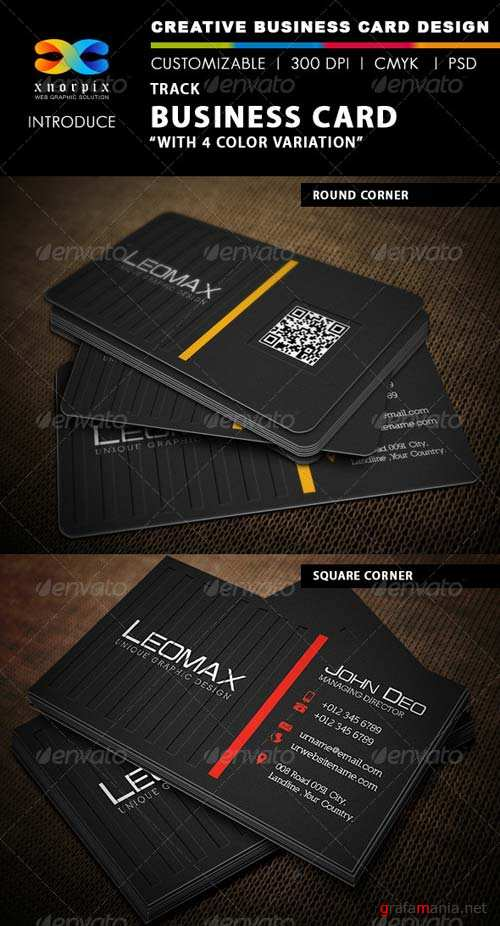 GraphicRiver Track Business Card