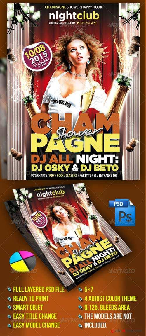 GraphicRiver Champagne Shower Party