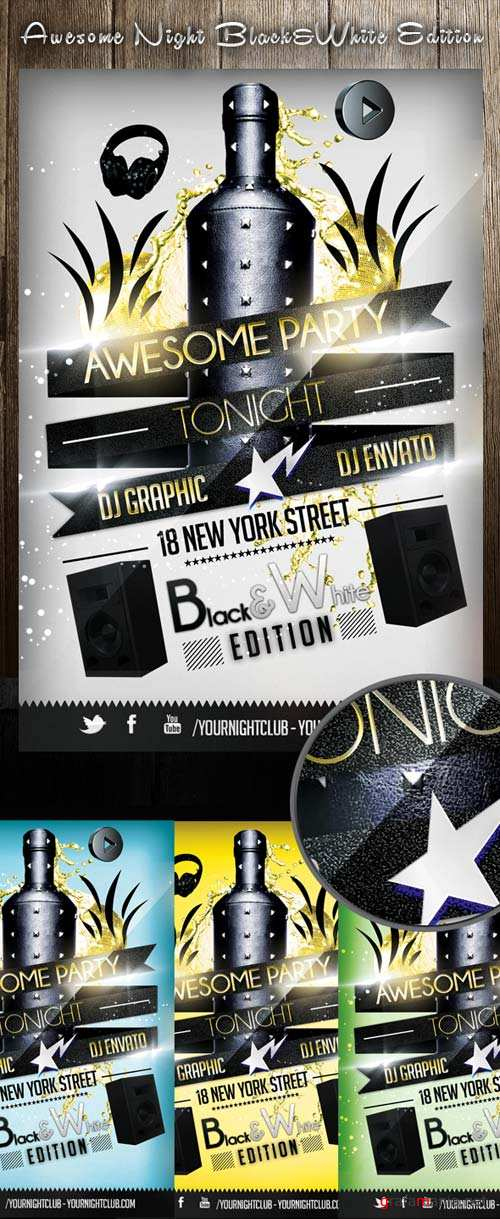 GraphicRiver Awesome night black&white edition