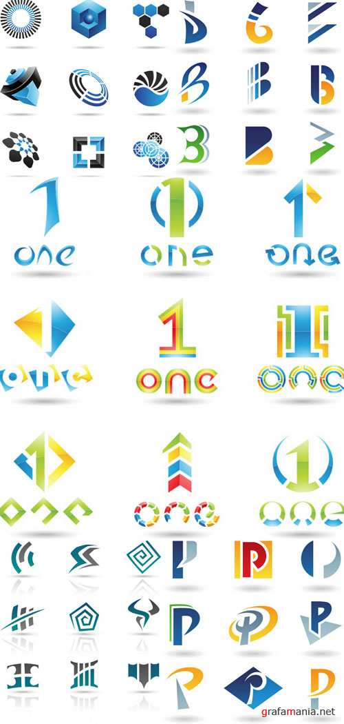 Elements for design and creation of logotypes #1