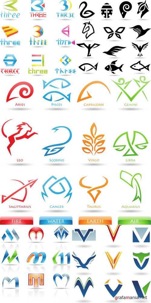 Elements for design and creation of logotypes #3