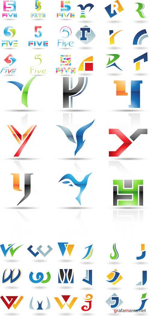 Elements for design and creation of logotypes #4