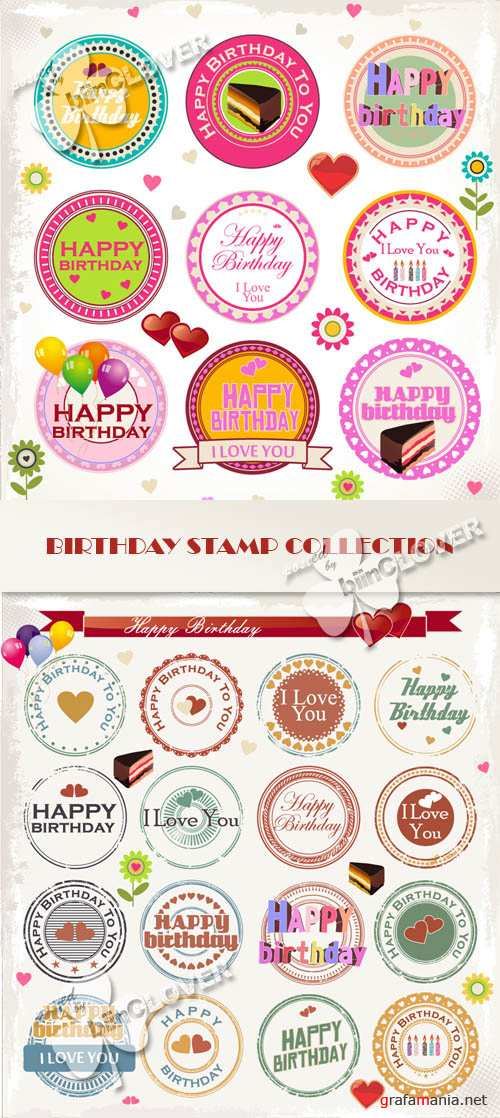 Birthday stamp collection 0423