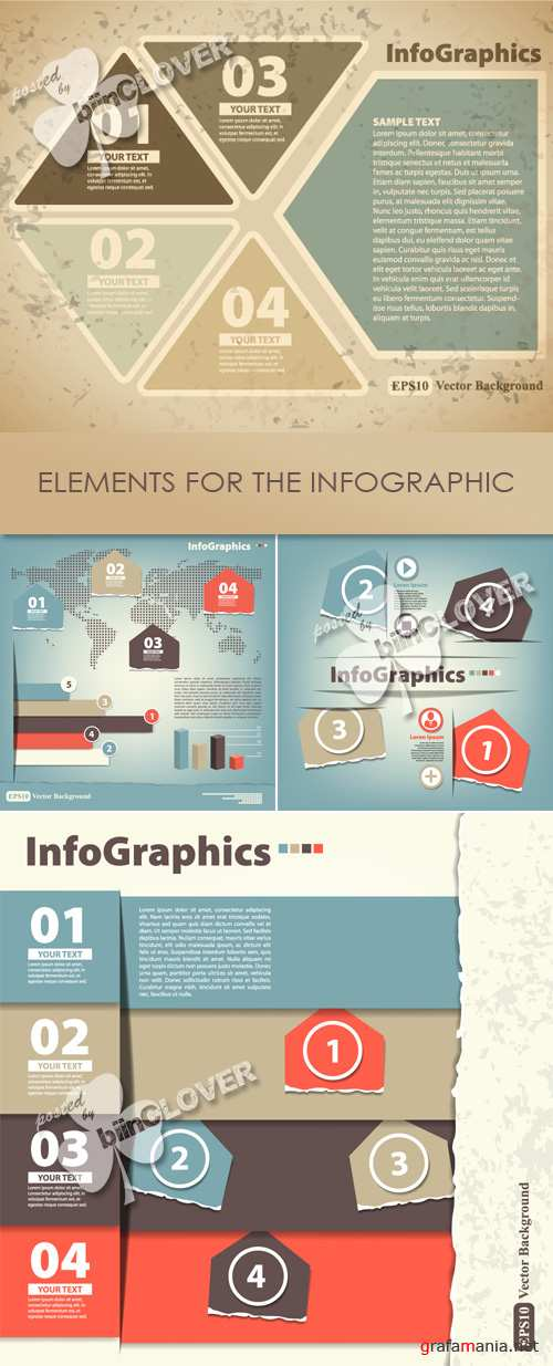 Elements for the infographic 0423
