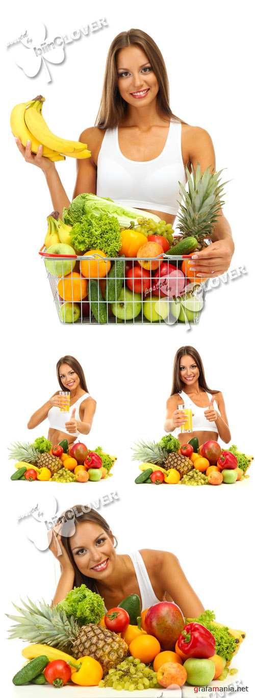 Woman with fruits and vegetables 0424