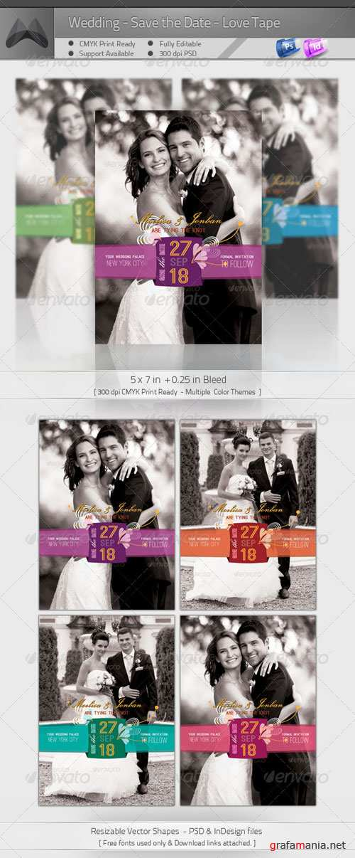 GraphicRiver Wedding - Save the Date - Love Tape