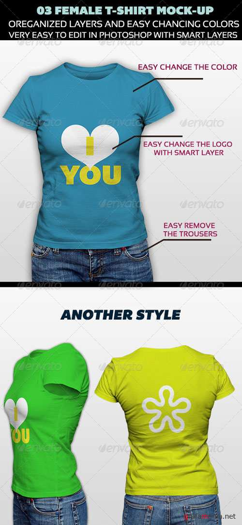 GraphicRiver Female T-Shirt Mock-Up