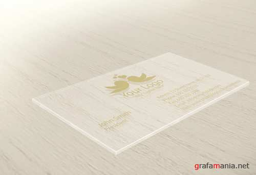 Glass Business Card Mock-Up