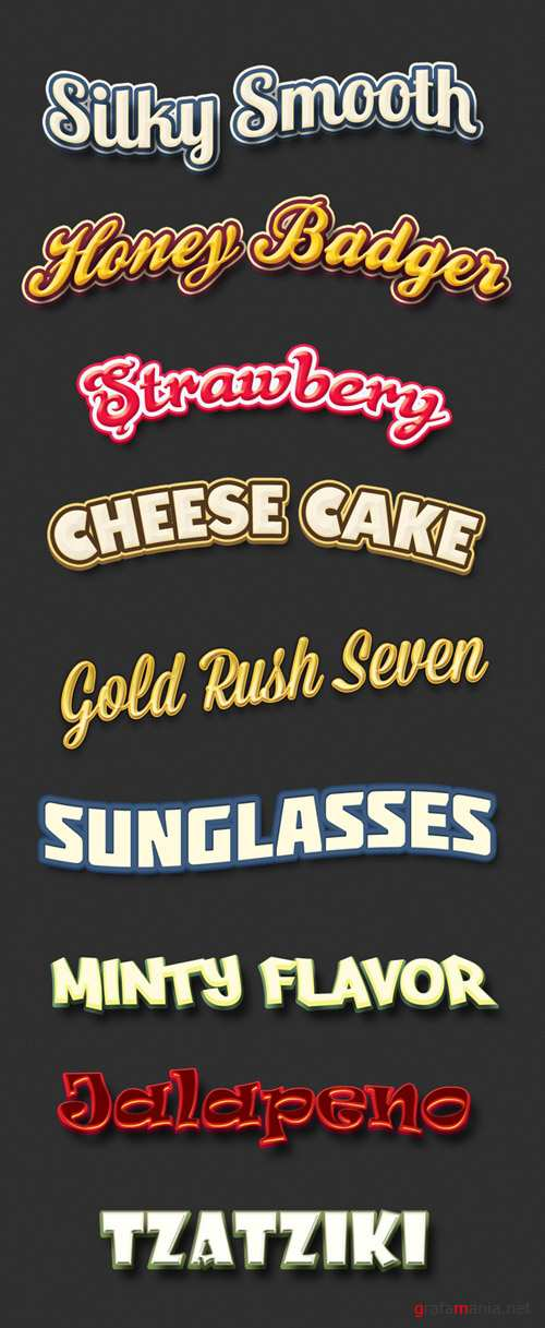 Retro Text Styles Pack 2