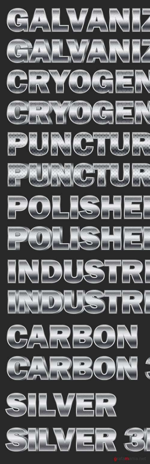 Metal Text Styles for Adobe illystrator