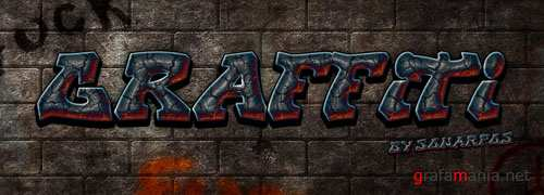 Graffiti Photoshop Text Style Effect