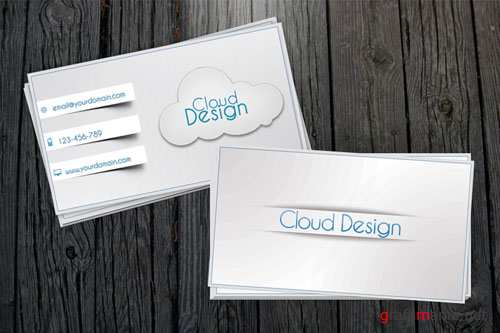 White Business Card PSD Template