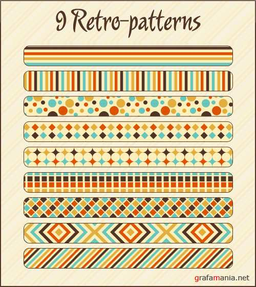 9 Retro Photoshop Patterns