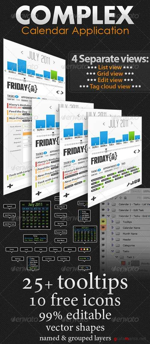 Graphicriver Complex Calendar Application