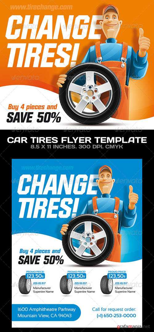 GraphicRiver Car Tires / Car Service Flyer Template