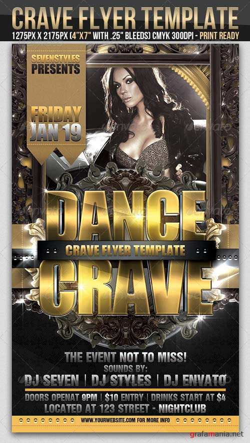 GraphicRiver Crave Flyer Template